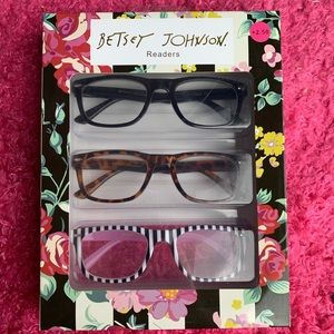 Betsey Johnson Reading Glasses Readers Stripe New
